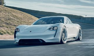 """Porsche's New """"Electric Pit Stop"""" Gives Cars 250 Miles of Power in Just 15 Minutes"""