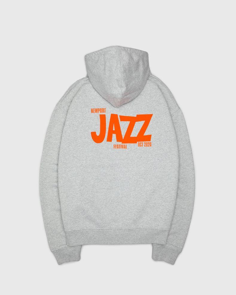 Highsnobiety — Newport Jazz Logo Hoodie Grey