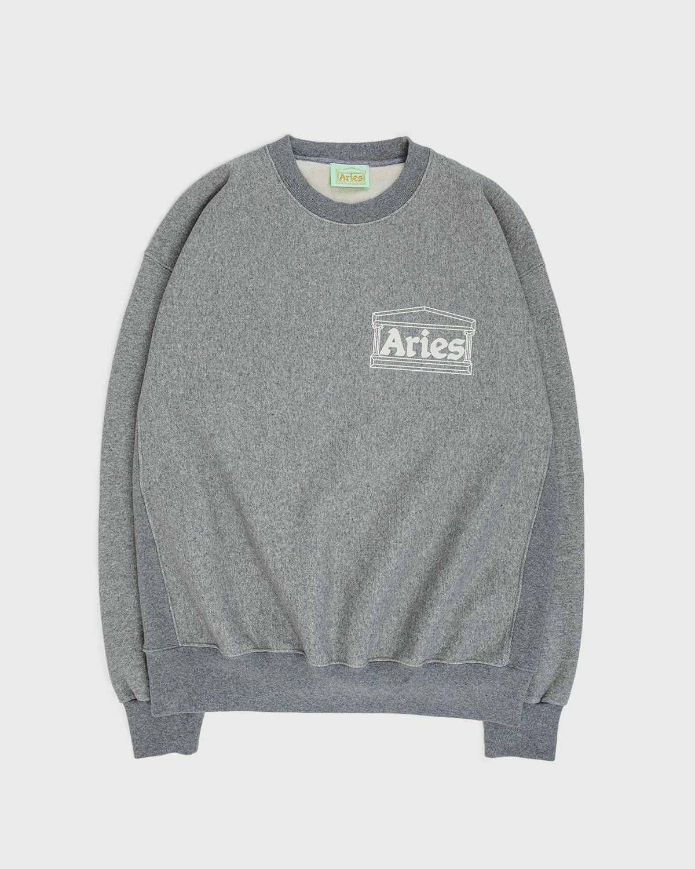 Aries — Premium Temple Sweatshirt Grey - Image 1