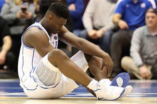 1b2adc492 Watch Top NBA Draft Prospect Zion Williamson s Nikes Fall Apart During Game