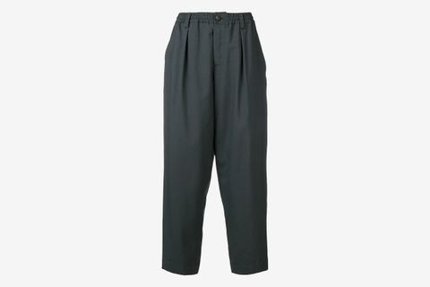 Elasticated Waist Tapered Trousers