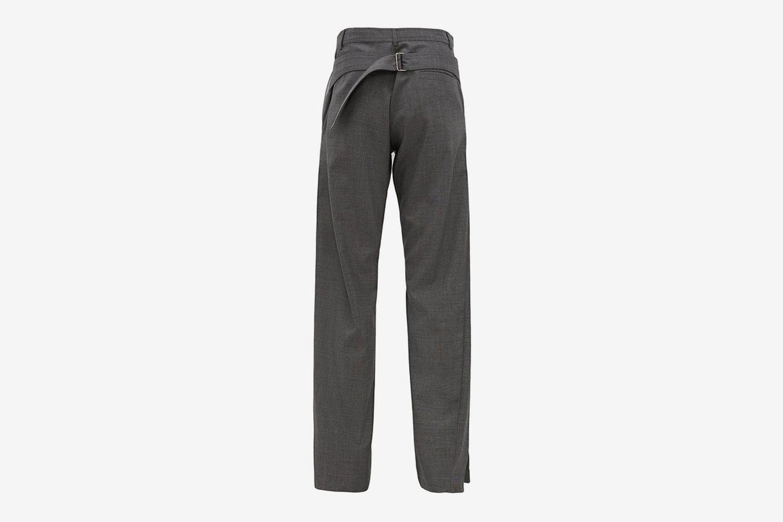 Split-Cuff Belted Trousers