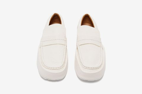 Chunky Faux-Leather Loafers