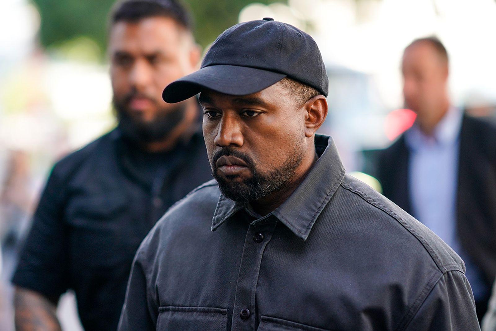 Kanye West black cap and jacket