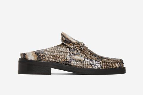 Snake Slip-On Loafers