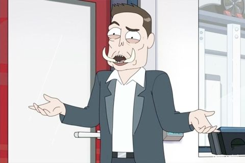 Elon Tusk 'Rick and Morty'
