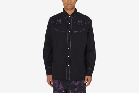 Papillion Emb. Piping Cowboy Shirt