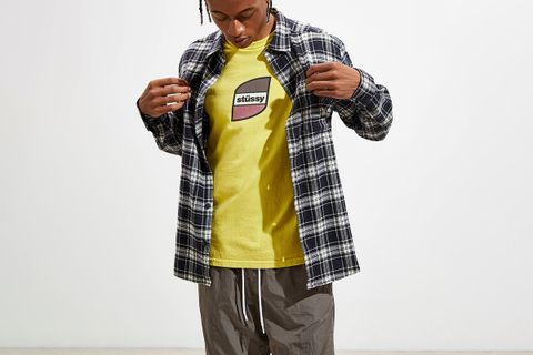 urban outfitters layering main1 Levi's Patagonia fila