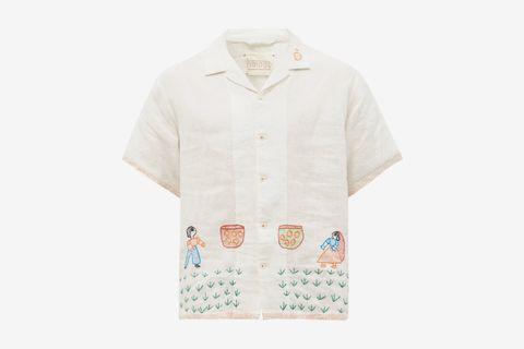 Mango Picker Linen-Khadi Shirt