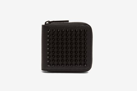 Panettone spike embellished square leather wallet