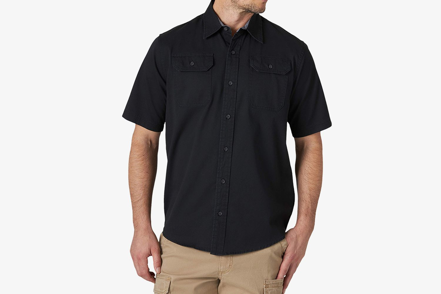 Short Sleeve Comfort Stretch Woven Shirt