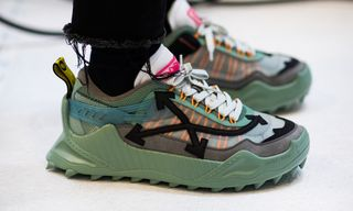 We Went Backstage to Get a Look at OFF-WHITE's FW19 Footwear at Paris Fashion Week