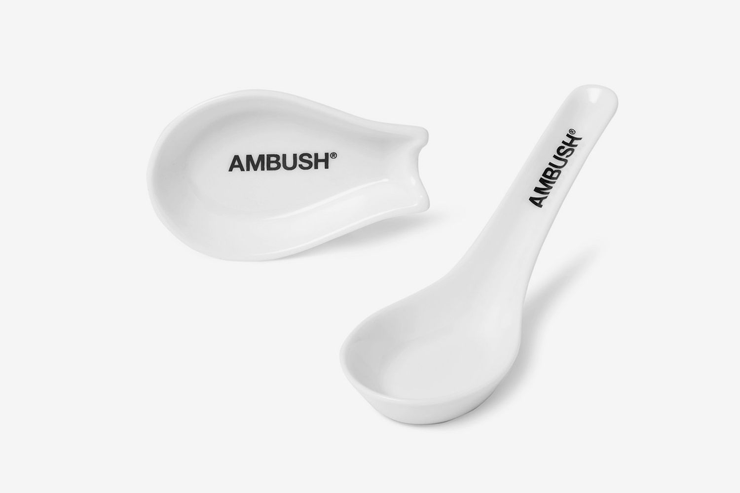 Logo-Print Ceramic Udon Spoon Set