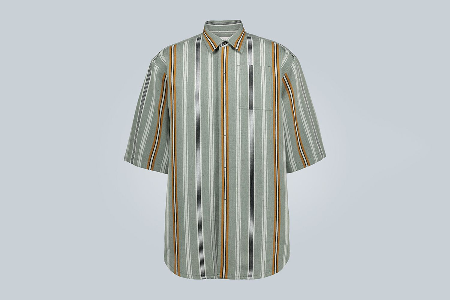 Linen-Blend Short-Sleeved Shirt