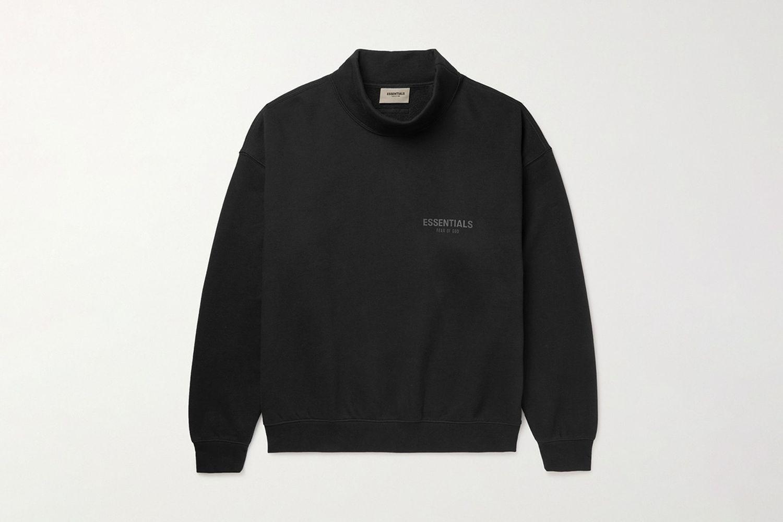 Mock-Neck Sweatshirt