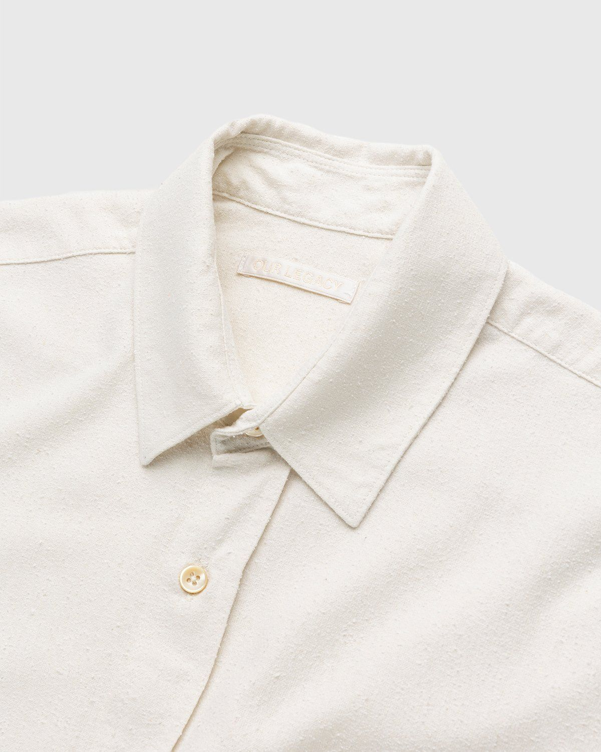 Our Legacy – Classic Shirt White Silk - Image 3