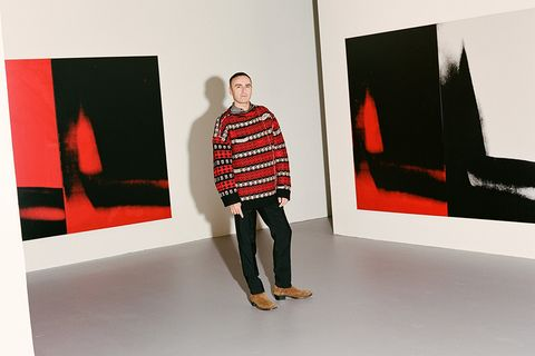 raf simons new york times interview Calvin Klein andy warhol