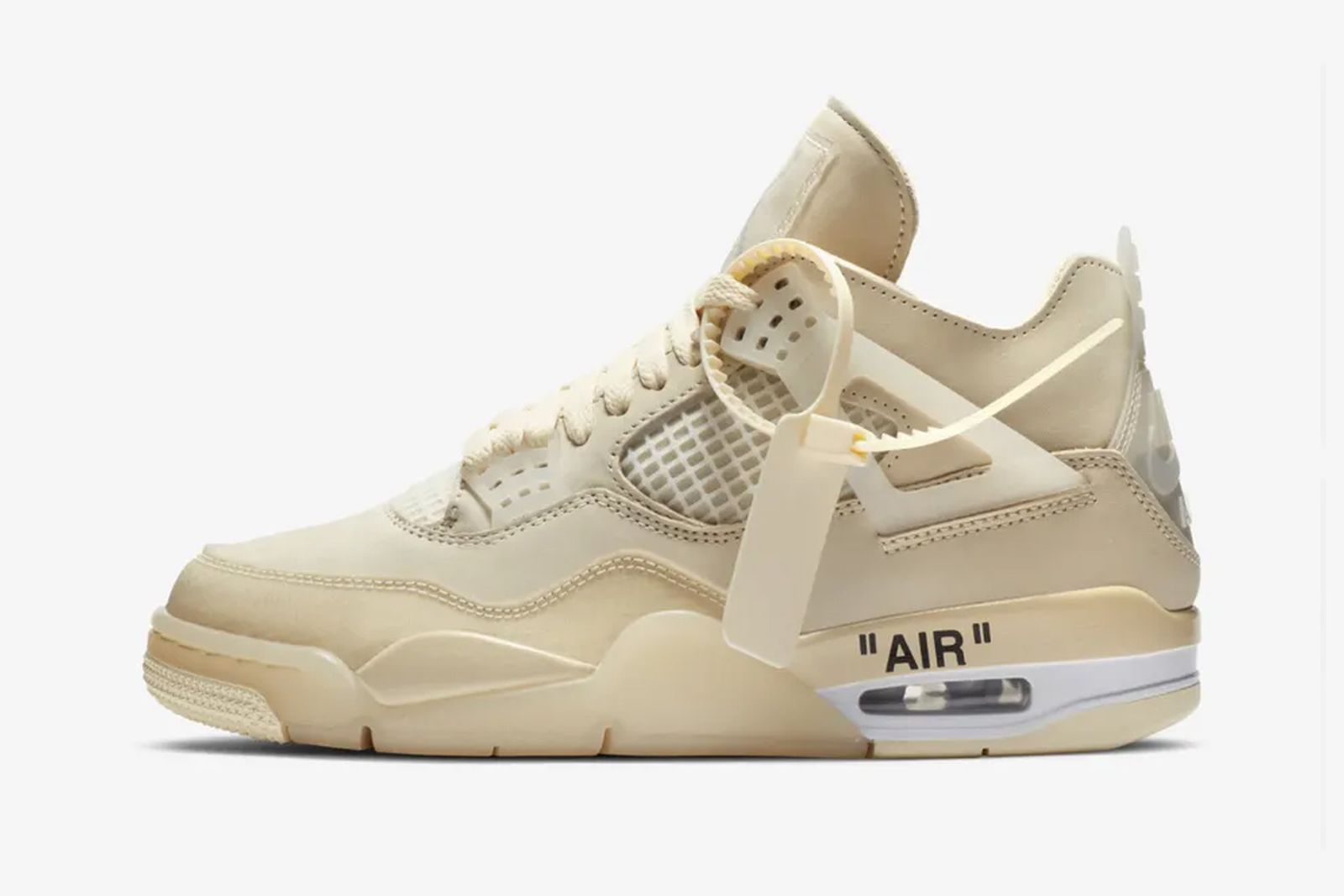 off-white x nike air jordan 4 sail product shot