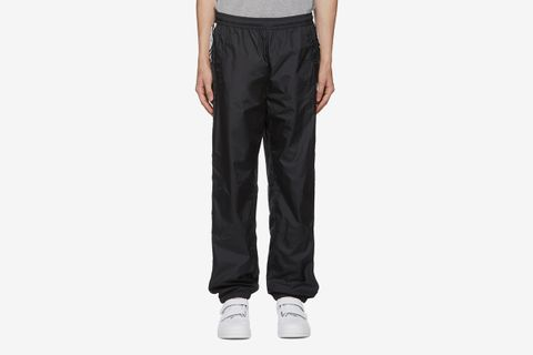 Face Motif Stripe Lounge Pants