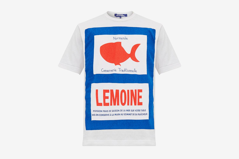 Fish Print Cotton T-Shirt