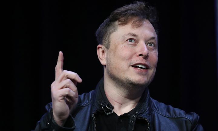 Elon Musk, founder and chief engineer of SpaceX speaks at the 2020 Satellite Conference and Exhibition