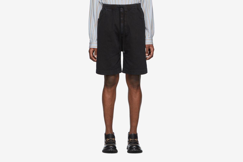Denim Washed Oversized Shorts