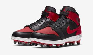 "The Nike Air Jordan 1 Gets Reimagined as ""Bred"" and ""Royal"" Football Cleats"