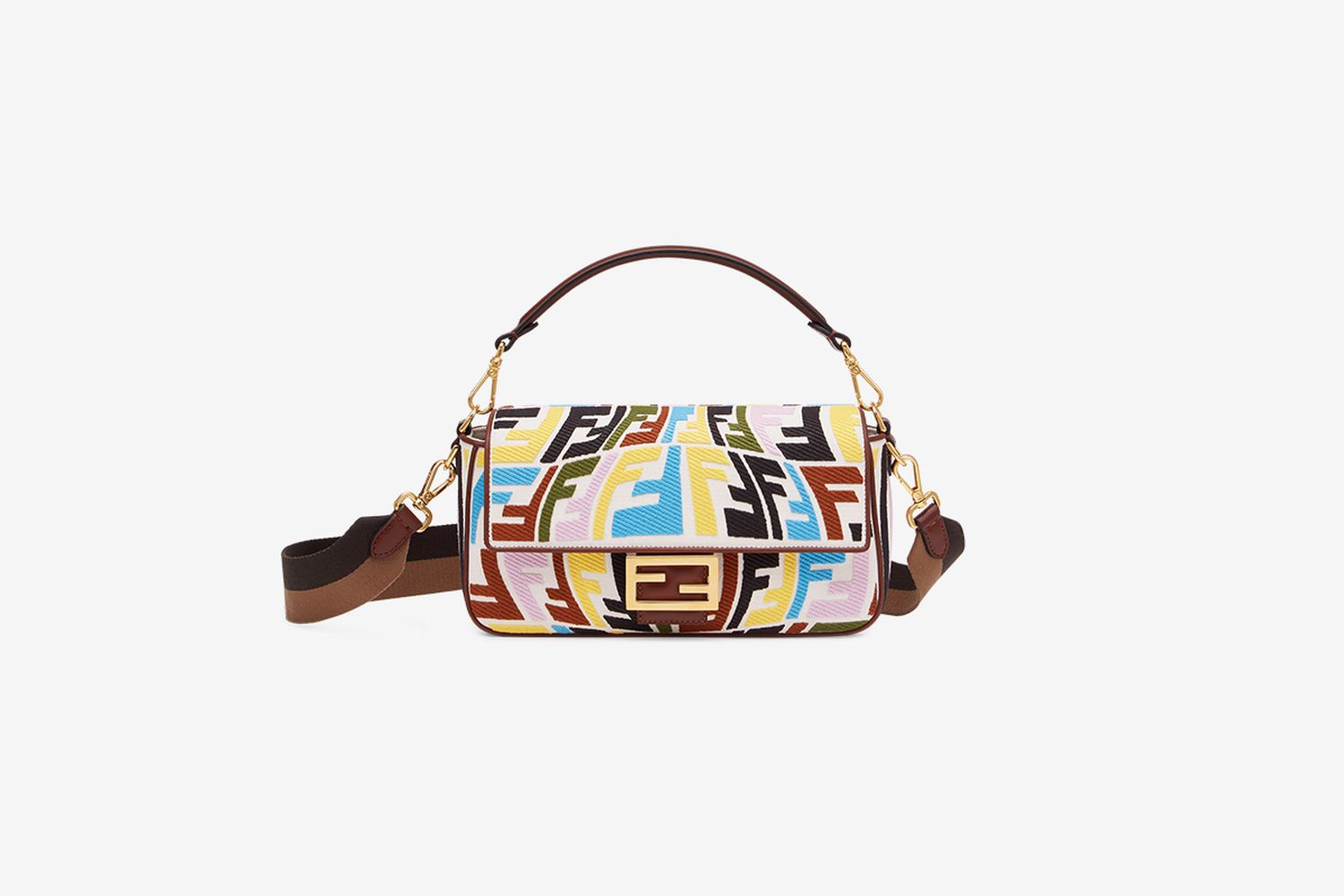 Multicolor Embroidered Baguette
