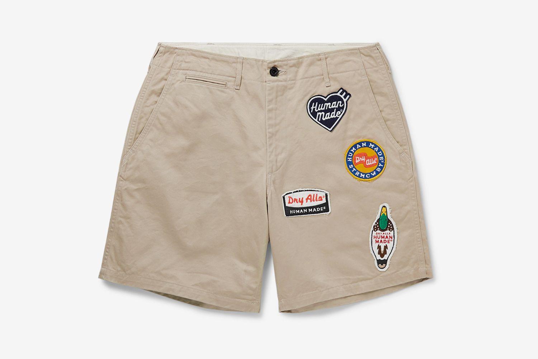Wappen-Appliquéd Cotton-Twill Chino Shorts