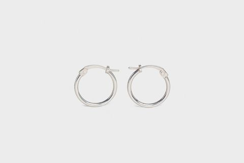 Simple Forms Extra Small Hoops In Brass