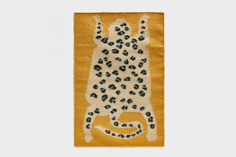 Flatwoven Leopard Rug