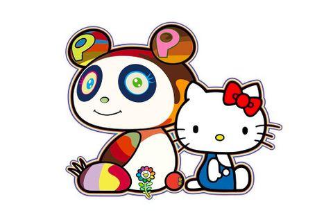 A teaser image of the new Takashi Murakami x Hello Kitty collaboration