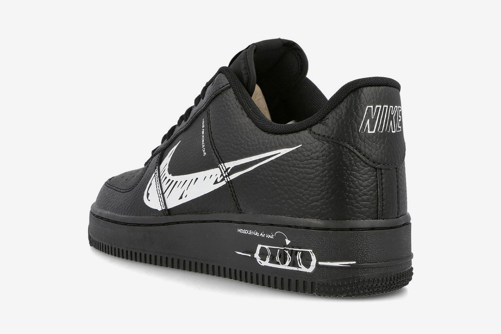 "Nike Air Force 1 ""Sketch"" Black"