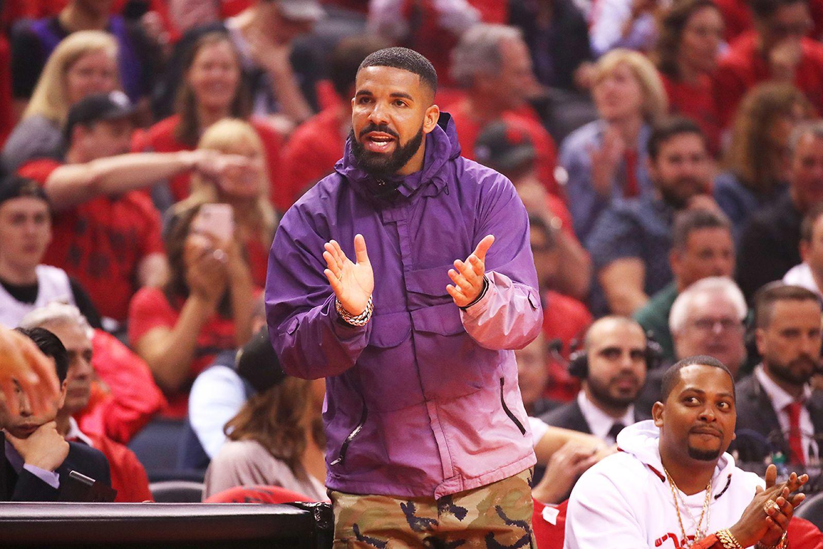 Drake NBA game courtside
