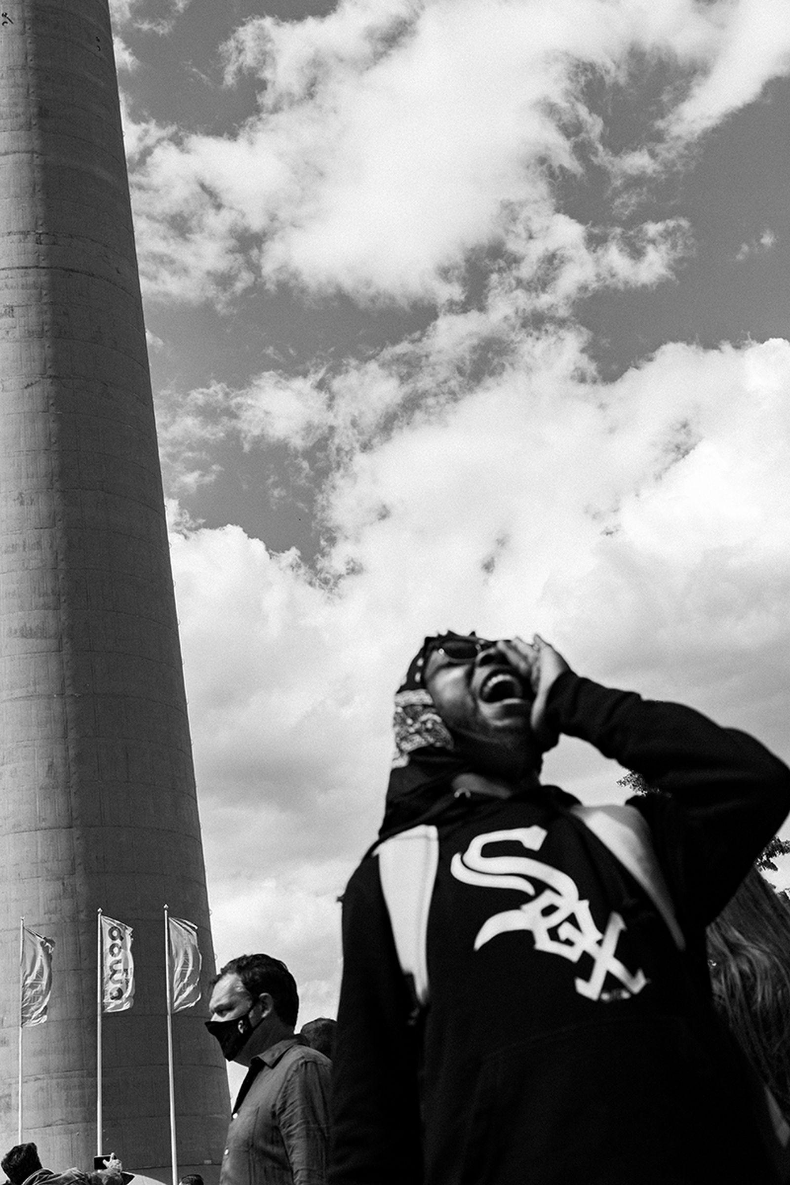 black lives matter protest in Düsseldorf Germany