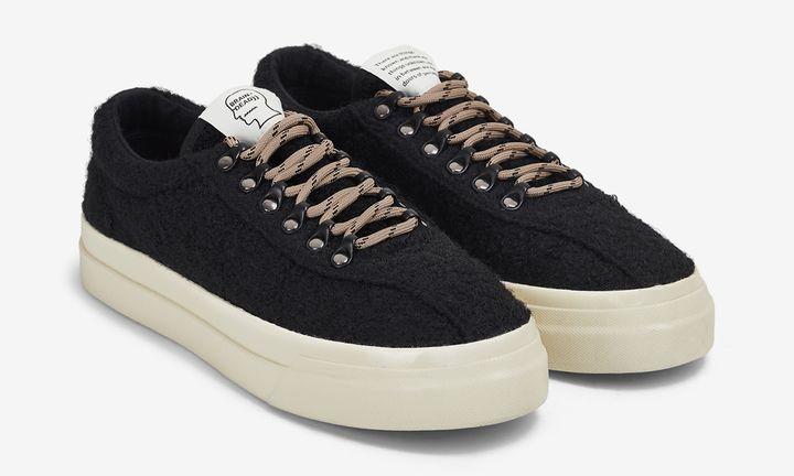 Brain Dead Stepney Workers Club Dellow sneaker black wool