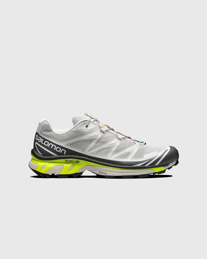 Salomon - XT-6 ADVANCED - Lunar Rock/ Quiet Shade/ Safety Yellow