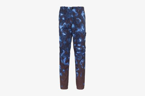 Printed Cotton Straight Trousers