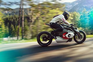 BMW Debuts Vision DC Roadster Electric Motorcycle