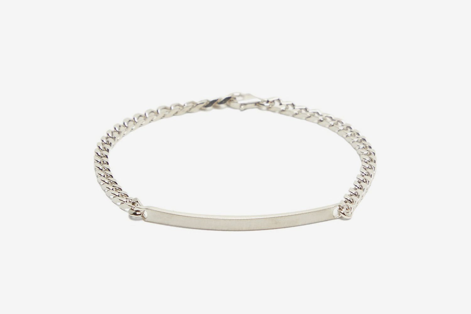 ID-Tag Sterling-Silver Chain Bracelet