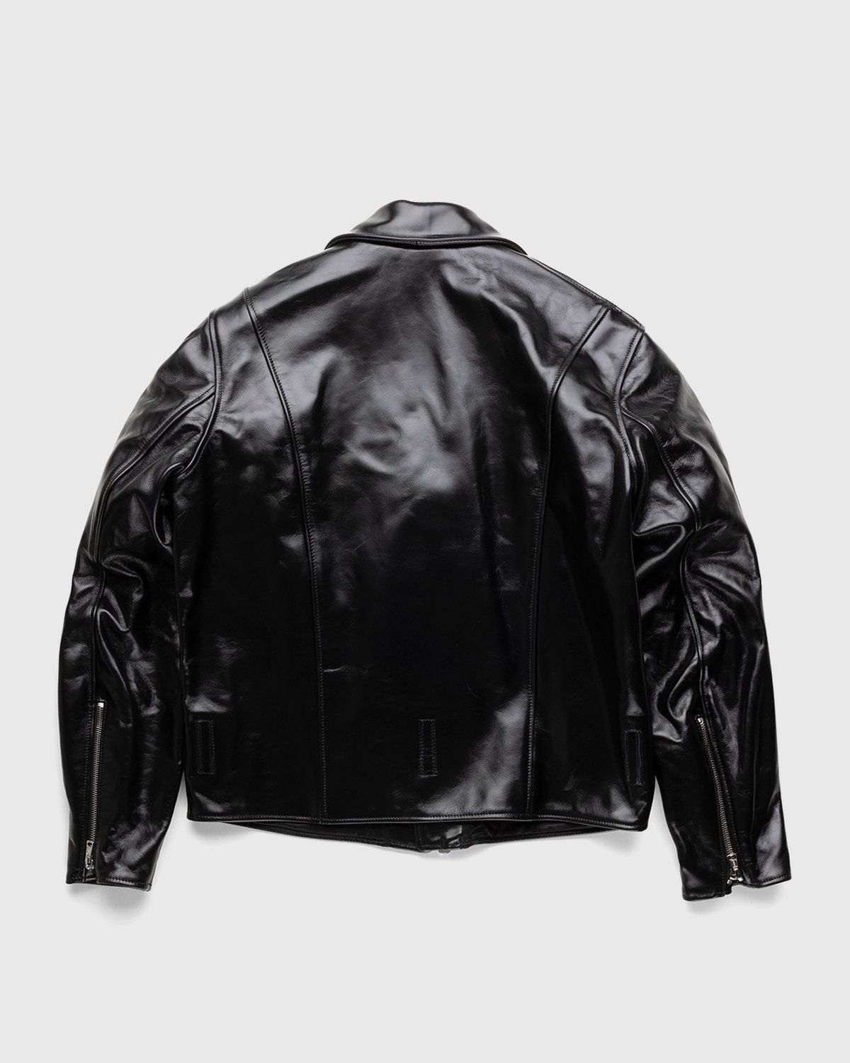 Our Legacy – Hellraiser Leather Jacket Aamon Black - Image 2