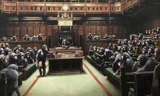 Banksy's 'Devolved Parliament' Piece Returns for Brexit Deadline Day