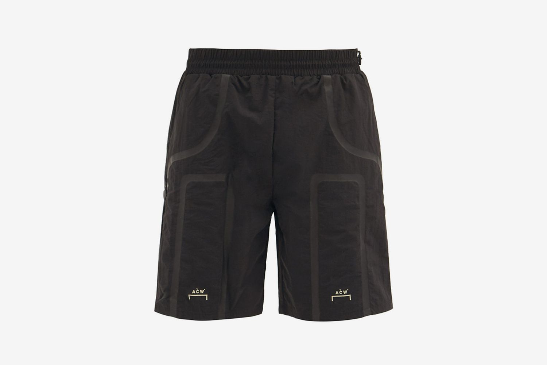 Logo-Print Shell Track Shorts