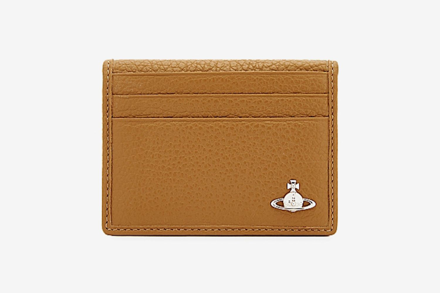 Mustard Grained Leather Card Holder