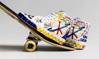 """Vans Drops DIY-Style Sk8-Hi """"Peace"""" With All-Over Doodles"""