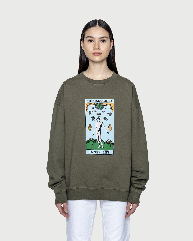 Inner Life by Highsnobiety - Sweatshirt Light Military Green - Image 3