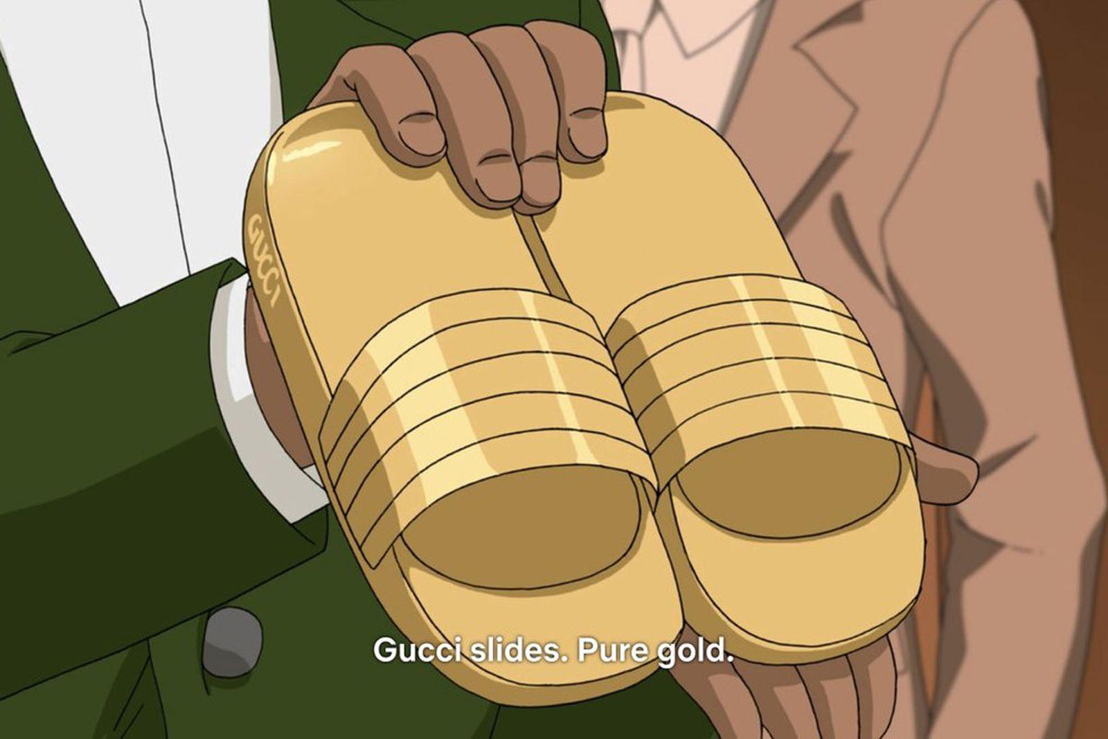 neo yokio pink christmas fashion references gucci anime jaden smith netflix