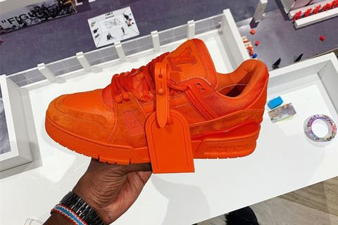 virgil abloh louis vuitton orange sneaker OFF-WHITE c/o Virgil Abloh kanye west