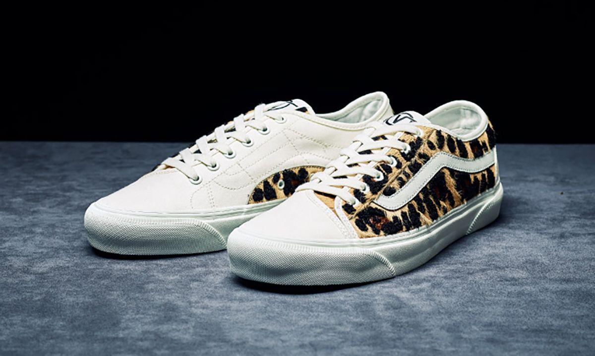 BILLY'S Drapes Three Vans Sneakers in Bold Faux Leopard Fur
