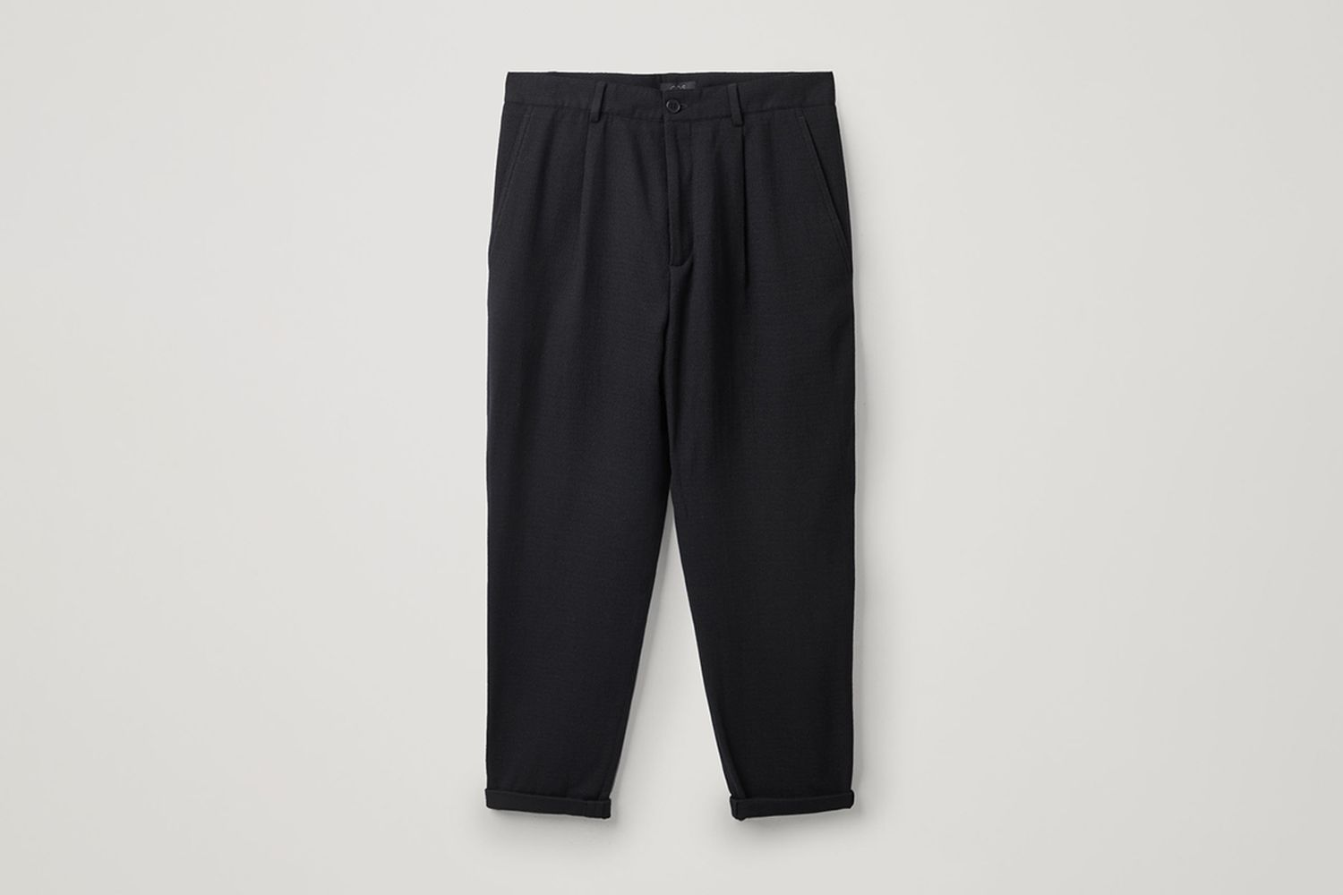 Pleated Wool-Crepe Trousers